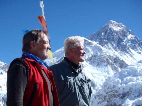 Willie and Kent on the summit of Kala Patthar - the best view of Mount Everest