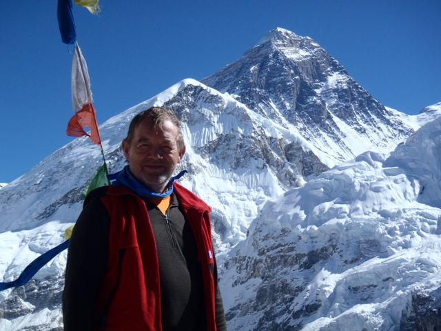 Willie on the summit of Kala Patthar - best view of Mount Everest