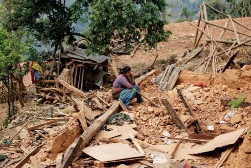 earthquake damage house