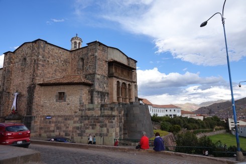 The only remnant of the original Temple of the Sun is the rounded protrusion to the right of the Convent of Santa Domingo