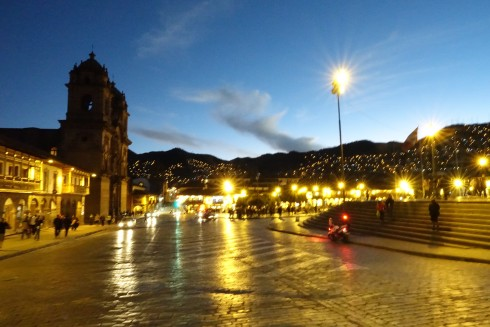 Plaza de Armes at night