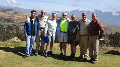 Our guide, Thomas, Dick Alkire, Jim Macklin, Bill Riat, Wilie Grové, Dave Jordan, Jim Simon