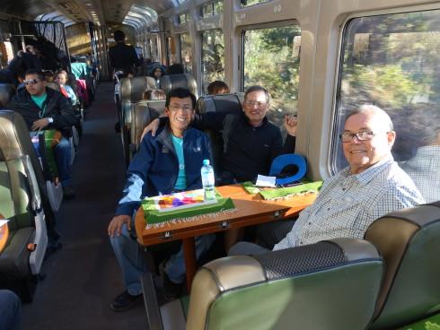 On the train to Machu Picchu