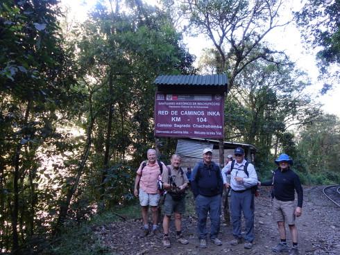 Km 104 - drop-off for the Inca Trail trailhead