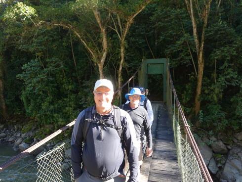 Starting the trek - we are still smiling! Phot Credit Bill Riat