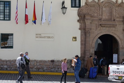 Arriving at the Hotel Monasterio