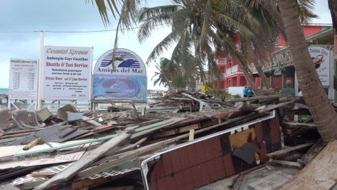 The dock to the left of Amigos Del Mar, our dive shop for the past 15 years, was completely destroyed. That dock contained a building