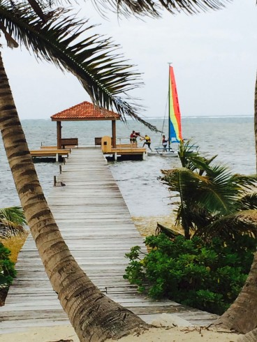 Our dock before the Hurricane Earl destroyed it on Wednesday night. My Hobie Cat ready to sail.